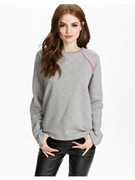 T By Alexander Wang Melange Fleece Crewneck Pullover