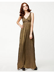 Lili London Metallic Tie Back Maxi Dress