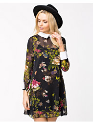 Lili London Floral Chiffon Shift Dress