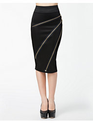 Lili London Zip Biker Midi Skirt