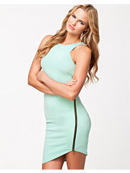 Lili London Zip Sleeveless Bodycon Dress