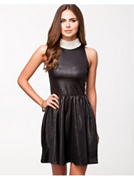 Lili London Pear Collar Snake Dress