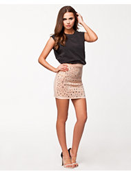 Lili London Scuba Embellished Short Skirt