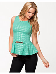 Lili London Plate Peplum Top