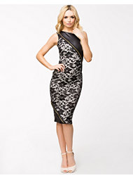 Lili London Lace Zip Biker Midi Dress