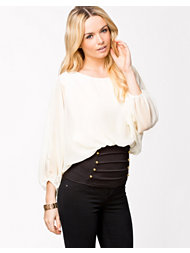Lili London Sequin Bow Chiffon Top
