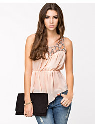 Lili London Jewel Trim S/S Top