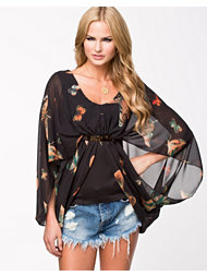 Lili London 2 In 1 Butterfly Plate Front Drape Top