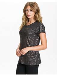 DKNY Short Sleeve Sequin Tee