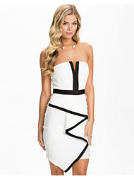 Lipsy Waterfall Bandeau Dress