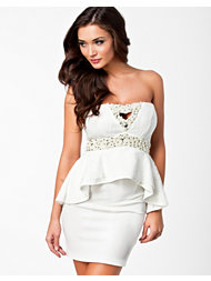 Oneness Beads Peplum Dress