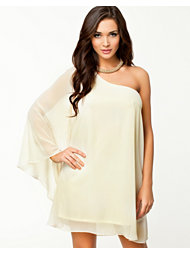 Oneness One Sleeve Chiffon Dress
