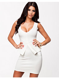Oneness V Panelled Peplum Dress