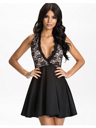 Oneness Halter Neck Skater Dress