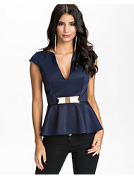 Oneness Gold Trim Peplum Top