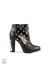 Miista Gold Bees Leather Boot