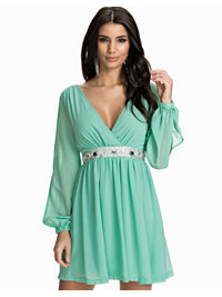 Festklänningar, Split Sleeve Trim Dress, NLY One - NELLY.COM