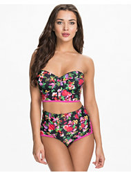 South Beach Multi Rose Bustier Bikini Set