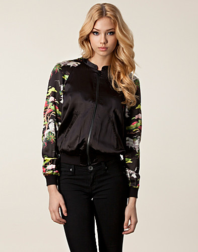 JACKETS AND COATS - FRENCH CONNECTION / CABANA SILK JACKET - NELLY.COM
