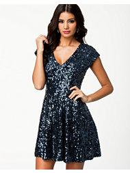 French Connection Spectacular Sparkle Cap Sleeve Dress