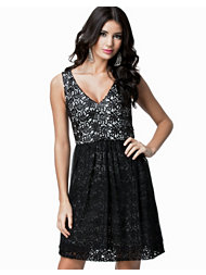 French Connection Glazed Lace Sleeveless Dress