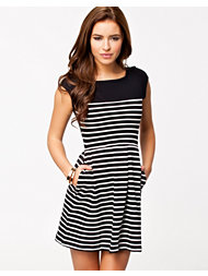 French Connection Bounty Stripe Filled Bk Dress