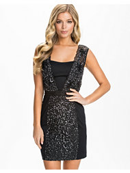 French Connection Angelfire Sparkle Fitted Dress