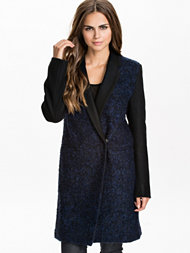 French Connection Mega Boucle Fitted Classic Coat