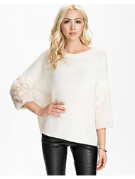 French Connection Opal Fur Knits 3/4 Sleeve Jumper