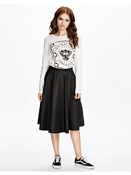 French Connection Fit PU Flared Skirt