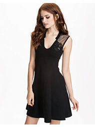 French Connection Fit Marie Mesh/Embellished Skater Dress