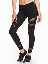Tights, Mesh Stripe Tights, NLY SPORT - NELLY.COM