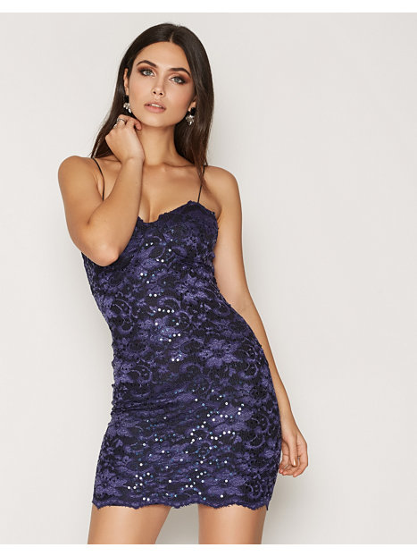 Lace Bra Cup Dress - Nly One - Navy
