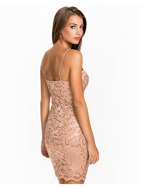 Lace Bra Cup Dress - Nly One - Champagne
