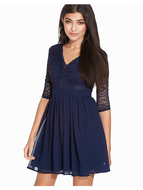 V-Neck Scallop Dress