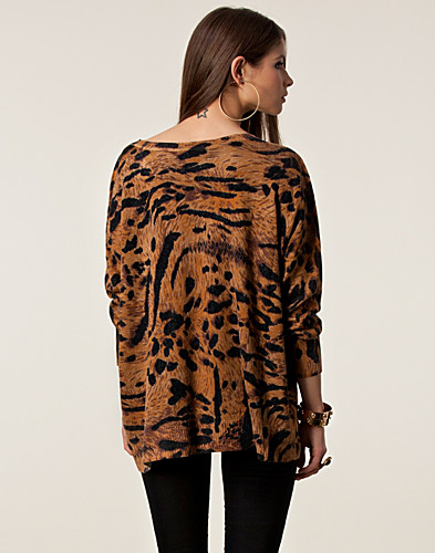 TRÖJOR - EVIL TWIN / ANIMALIA PRINTED JUMPER - NELLY.COM