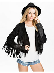 One Teaspoon Suede Fringe Jacket