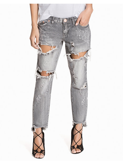 Grey Chalk Freebird Jeans