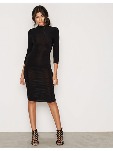 Ruched High Neck Dress