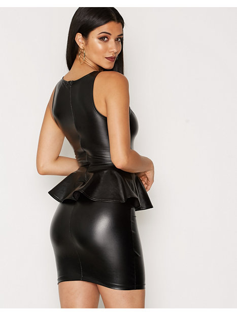 Peplum Leather Dress