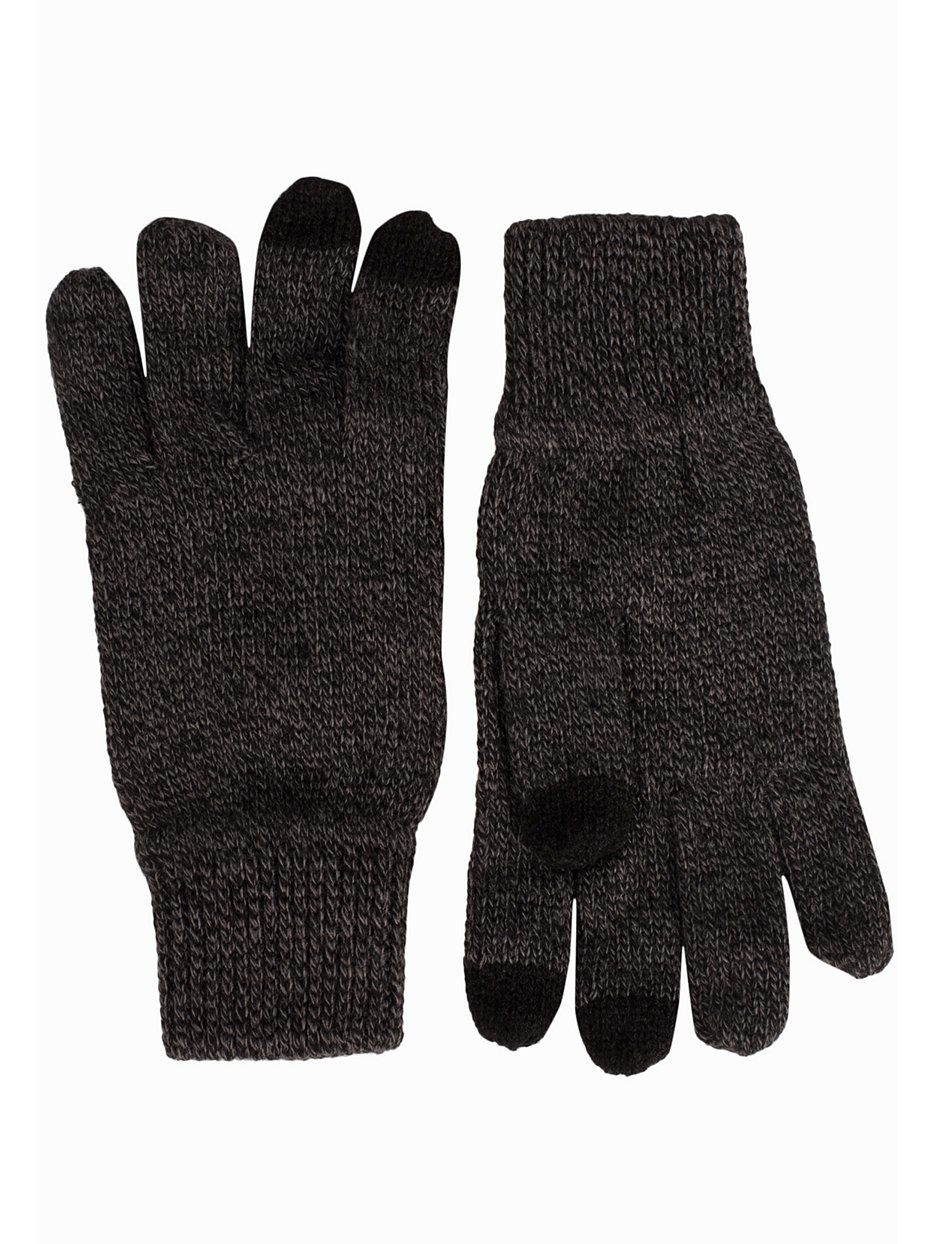 Mens gloves topman - Black Touched Gloves