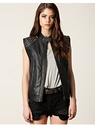 Black Secret Famous Leather Waist Coat