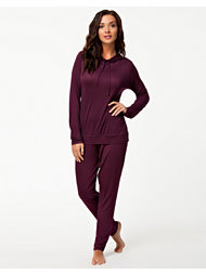 Calvin Klein Feather Light Hooded Pj Set