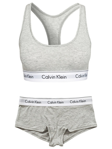 bralette calvin klein underwear grau melange bh 39 s top 39 s unterw sche damen. Black Bedroom Furniture Sets. Home Design Ideas