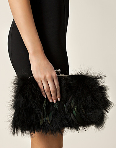 BAGS - FRIIS & COMPANY / PIOMAZZO FEATHER CLUTCH - NELLY.COM