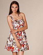 ONE SHOULER FLORAL DRESS