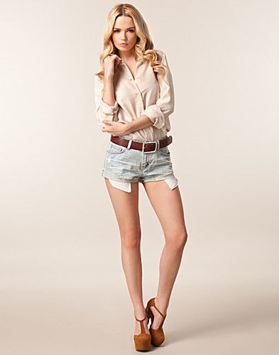 BUKSER & SHORTS - SORT DENIM / DUBLIN DENIM SHORTS - NELLY.COM