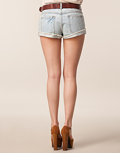 HOSEN & SHORTS - SORT DENIM / DUBLIN DENIM SHORTS - NELLY.DE