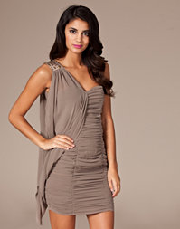 Little Mistress - Trim Draped Dress