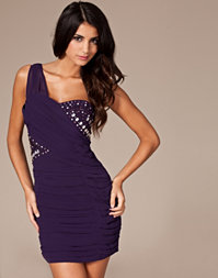 Little Mistress - Ruched One Shoulder Dress